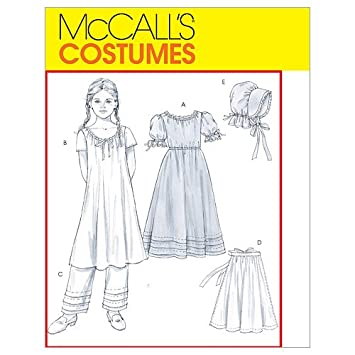 McCall \'s Patterns m4547 Kinder/Mädchen Early American Kostüm, Girl ...