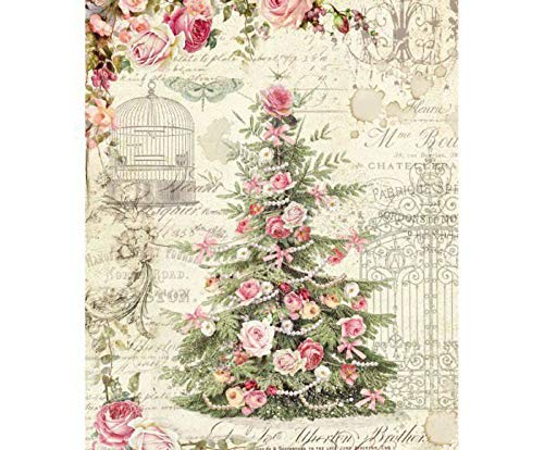 Decoupage Rice Papers A4 Hobby Colors Rice Paper Tree and Rose Stamperia