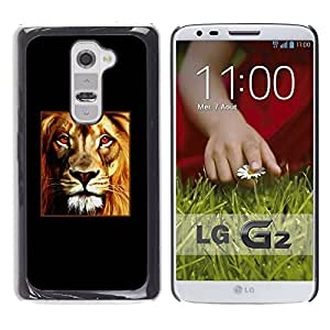 All Phone Most Case / Hard PC Metal piece Shell Slim Cover Protective Case Carcasa Funda Caso de protección para LG G2 D800 D802 D802TA D803 VS980 LS980 Lion Poster Fire Red Minimalist Black