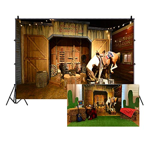 Western Backdrop Ideas - LFEEY 10x8ft Old Wild West Stable