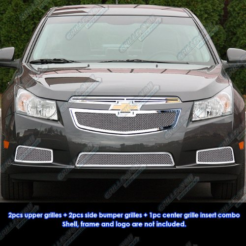 Fits 2011-2014 Chevy Cruze Stainless Steel Mesh Grille Grill Insert Combo # C71032T