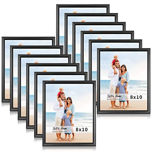 LaVie Home 8x10 Picture Frames (12 Pack, Black) Simple Designed Photo Frame with High Definition Glass for Wall Mount & Table Top Display, Set of 12 Classic Collection (Frames 12 10 Glass X Photo)
