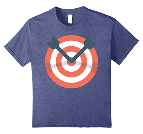 Archery Costume Ideas (Kids Archer Bow Shooting Tshirt - Funny Archery Target Gift Idea 8 Heather Blue)