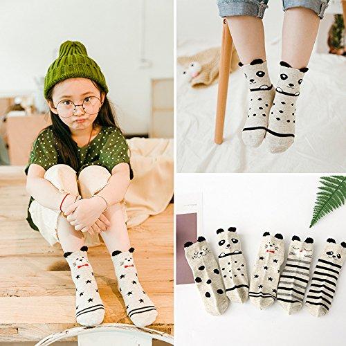ZYTAN Bambini Sport calze per ragazzi e ragazze star mesh traspirante calze calzini 5 paia