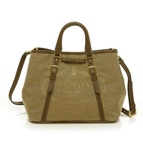 Prada Convertible Shoulder Bag (Prada Canvas Handbag)