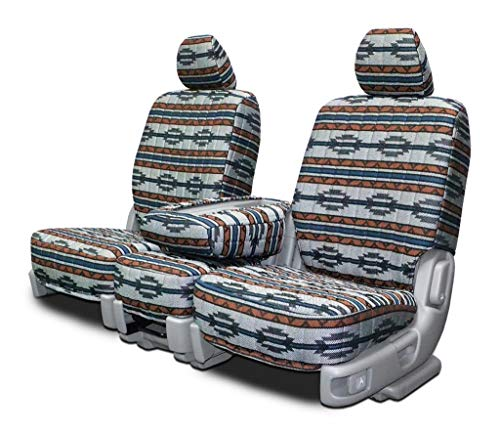 Custom Seat Covers for Honda Element Front Low Back Seats - Gray Aztec