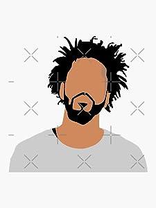 J. Cole Sticker - Sticker Graphic - Auto, Wall, Laptop, Cell, Truck Sticker for Windows, Cars, Trucks