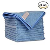 Geekinstyle Pro Multi-Purpose Microfiber Towel – 36 Pack | Premium Cleaning Cloths Rag for Kitchen Furniture Car | Clean, Dust, Polish, Absorb | Small 12''x12'' (Blue)