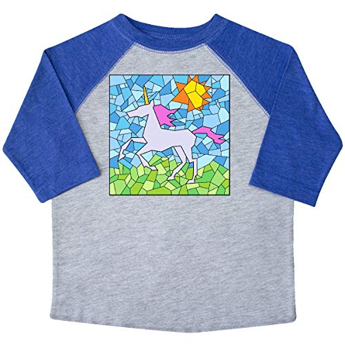 inktastic - Stained Glass Unicorn Toddler T-Shirt 4T Heather and Royal 34a1a