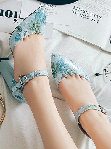 Boucle Escarpins Multicolore Aisun Avec Bleu Femme Mode Fleurs nqwnTvUY
