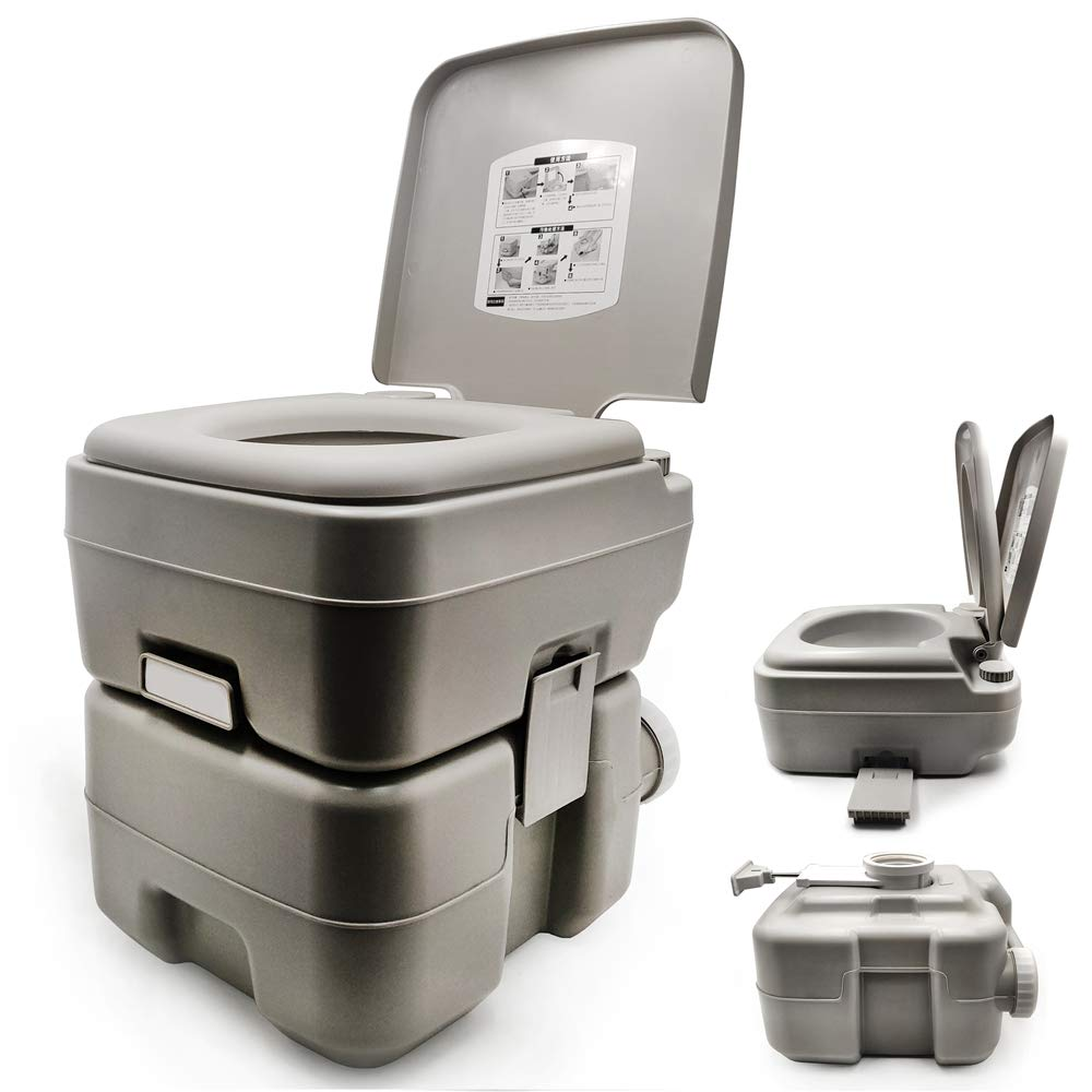 XKMT- 5 Gallon 20L Portable Toilet Flush Travel Camping Outdoor/Indoor Potty Commode by XKMT