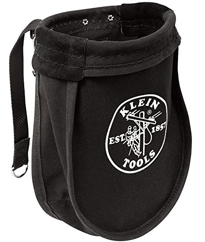 Nut And Bolt Pouch, Canvas, Black, Klein Tools, 51A