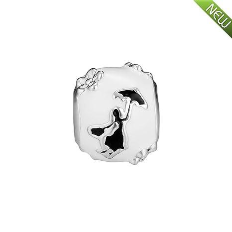 cbd45c5b1 PANDOCCI 2018 Winter Mary Poppins White & Black Enamel Bead 925 Silver DIY  Fits for Original Pandora Bracelets Charm Fashion Jewelry: Amazon.co.uk:  Kitchen ...