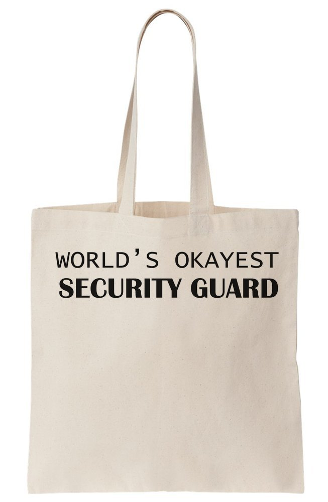 World's Okeyest Security Guard Canvas Tote Bag
