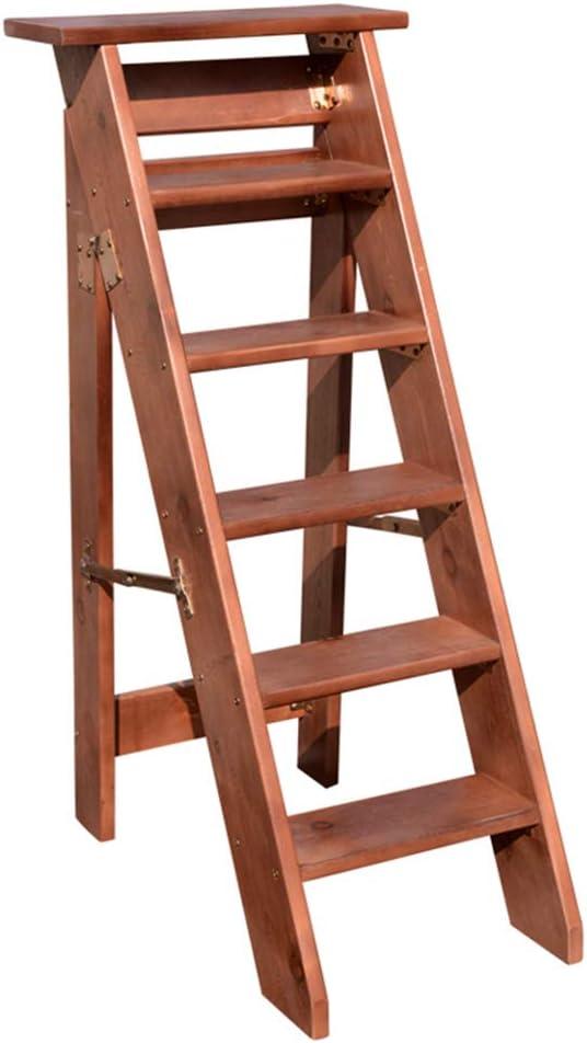 Escalera Plegable de 6 escalones, escalones de Madera Escalera Robusta Escalera con Pedales Anchos, Escaleras para jardín: Amazon.es: Hogar