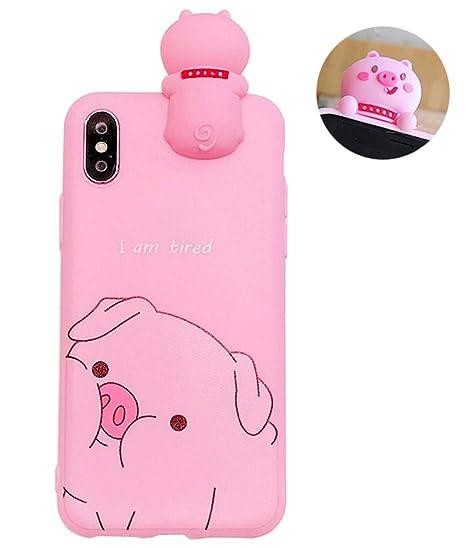 innovative design c4fb1 427fb Amazon.com: UnnFiko Pig Phone Case Compatible with iPhone 6 Plus ...