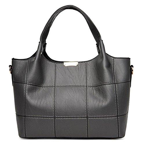Artificial Shoulder Purse Handbag For Bags Lattice Leather Tote Bag KONFA Crossbody Classic Medium Ladies Grey Women Messenger FnqYWZnwE