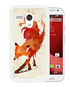 Watercolor Fox Animal Oil Painting White Newest Custom Design Motorola Moto G Phone Case