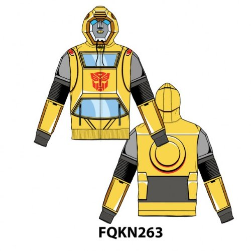 Transformers Bumblebee Costume Hoodie For Adult (XXL) -