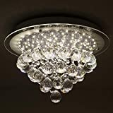 Horisun Crystal LED Ceiling Light Fixture Flush