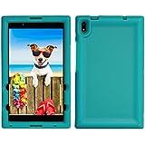 BobjGear Bobj Rugged Tablet Case for Lenovo Tab 4 8 Plus (TB-8704V, TB-8704XF, TB-8704X, TB-8704A) - BobjBounces Kid Friendly (Terrific Turquoise)
