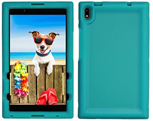 BobjGear Bobj Rugged Tablet Case for Lenovo Tab 4 8 Plus (TB-8704V, TB-8704F, TB-8704X, TB-8704A) - BobjBounces Kid Friendly (Terrific Turquoise)