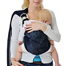Ibetter Baby Sling Ring Adjustable Infant Wrap Shoulder Breathable Mesh| Pain-Free Carrying | Extra Soft polyester | Lightweight Sling|blue