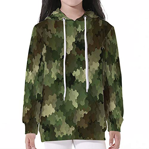Price comparison product image iPrint Pullover Hooded,Camo,Frosted Glass Effect Hexagonal Abstract Being Invisible Woo