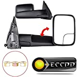 ECCPP Towing Mirrors for 03-08 Dodge Ram 1500 2500 3500 Truck Black Manual Tow mirrors Side View Mirror Pair Set
