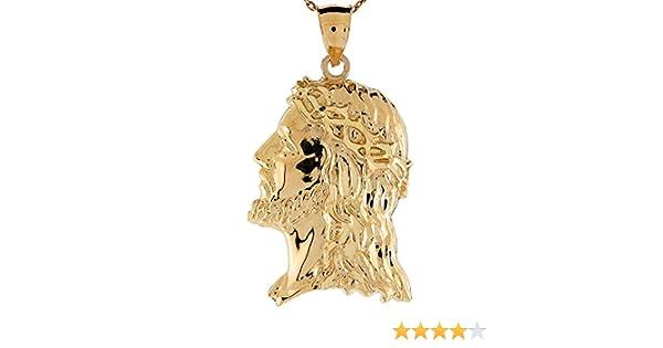 14k Yellow Gold Religious Charm Pendant Try Jesus