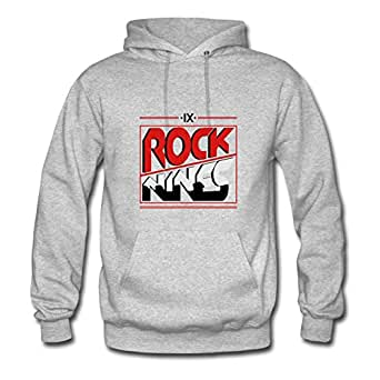 Women Hoodies Casual Rock Nines 2 Painting X-large With 100% Cotton Grey