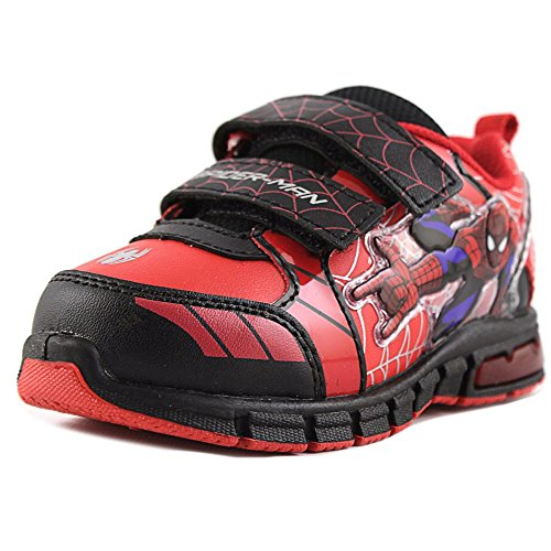 Marvel Ultimate Spiderman Toddler/Little kid Lighted Dual Strap Shoes (11 M US Little Kid, Red/Black) -