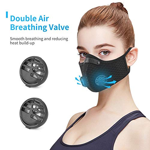 Dust Mask, Amazer Tec Reusable Dust Pollution Mask with Activated Carbon Filter for Woodworking House Cleaning Gardening and Outdoor Activities...