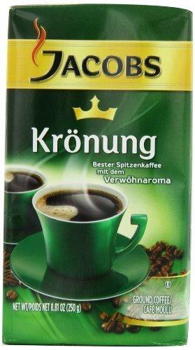Jacobs Kronung Coffee, 8.81-Ounce Vacuum Packs (Pack of 4)
