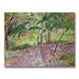 This ready to hang, gallery wrapped art piece features a tropical landscape. Paul Gauguin was a leading Post-Impressionist painter. His bold experimentation with coloring led directly to the Synthetist style of modern art while his expression of the ...