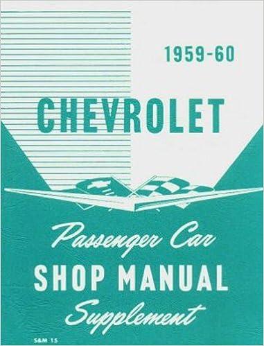 Book 1959 Chevrolet Passenger Car Shop Manual Supplement