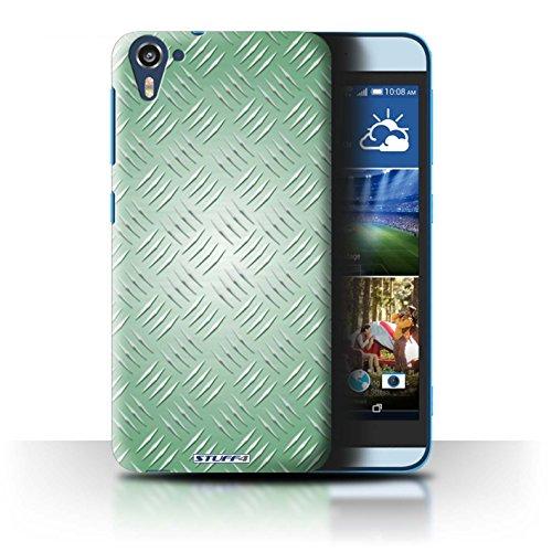 Coque de Stuff4 / Coque pour HTC Desire 826 / Vert Design / Motif en Métal en Relief Collection