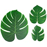 60PCS Artificial Palm Leaves for Hawaiian Tropical Jungle Luau Party Decorations