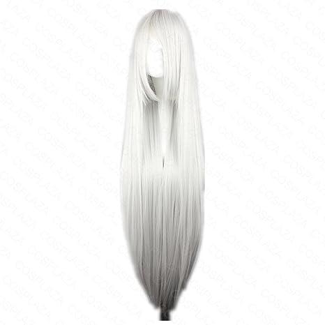 COSPLAZA - Peluca de pelo sintético, melena larga, color ...
