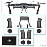 Leg Extensions for DJI Mavic Pro (Grey) - Landing Gear Kit for Extra Height and Safety - Gives Your DJI Drone More Ground Clearance - Protection Pads and Spare Front Legs Included