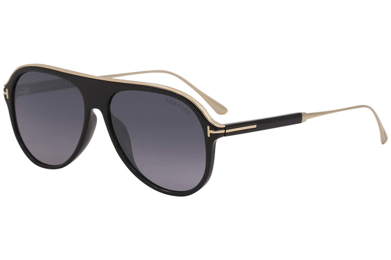 27c391c53d91 Amazon.com  Tom Ford FT0624 01C Shiny Black Nicholai Pilot Sunglasses Lens  Category 3 Size  Tom Ford  Clothing