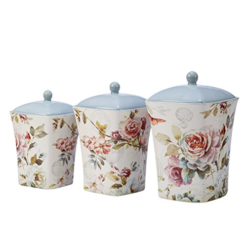 Beautiful Colored Multi (Certified International 23579 Beautiful Romance 3 pc Canister Set, One Size, Multicolored)