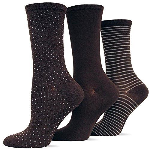 (Hot Sox Women's Polka Dot Trouser Socks 3)