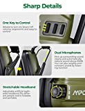 Mpow Electronic Shooting Earmuffs, Rechargeable Ear muffs 30Hrs Playtime, NRR 22dB Ear Muffs Noise Reduction Sound Amplification, Hearing Protection for Shooting, Hunting, Mowing, Woodworking- Green