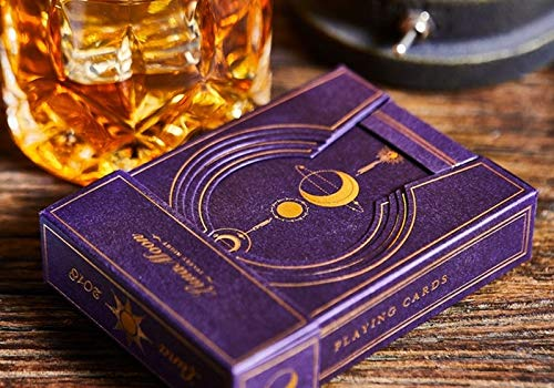 Bocopo 1 Luna Moon Violet Deluxe Limited Edition Playing Cards Rare Deck