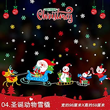 Decoración De Navidad Syn Año Nuevo Festival De Primavera Pegatina Puerta Pega Jardín De Infantes Diseño Proporciona Santa Claus Pegatina 98X59Cm 4: Amazon.es: Bricolaje y herramientas