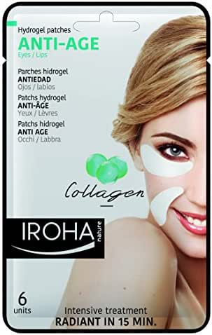 Iroha Nature Eye Pads Collagen Antiage Eyelip 3 Uses