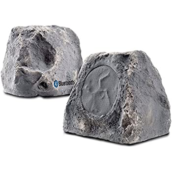 BTR150 5.25-Inch 120W 2-Way Weather-Resistant Outdoor Bluetooth Wireless Rock Speaker - OSD Audio - (Pair, Slate)