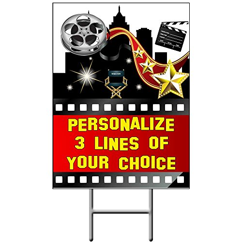 Hollywood Yard Sign (Each) - Customized by Partypro ()