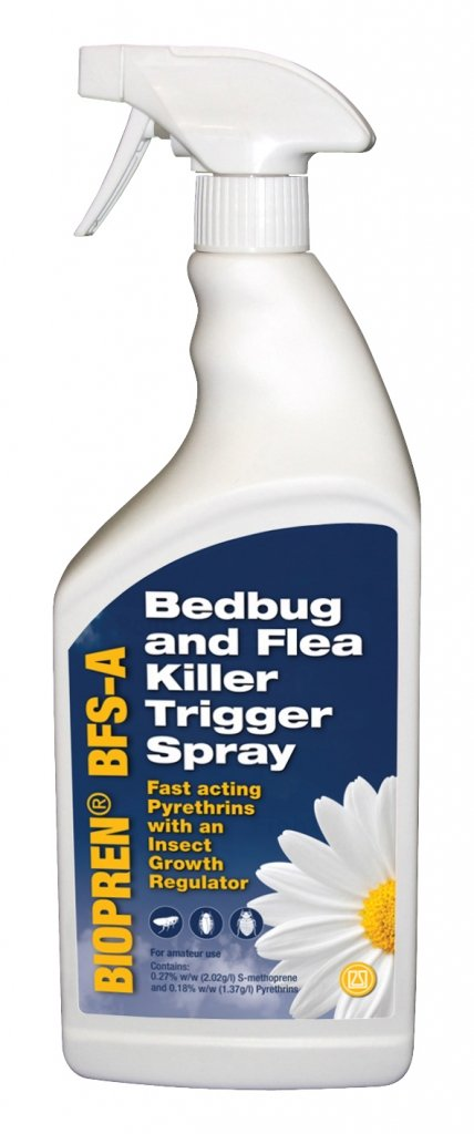 Bed Bug and Flea Killer Spray Treatment (1 Litre) - Spray Around Bedrooms, Mattresses, Bed Frames, Furniture Agropharm